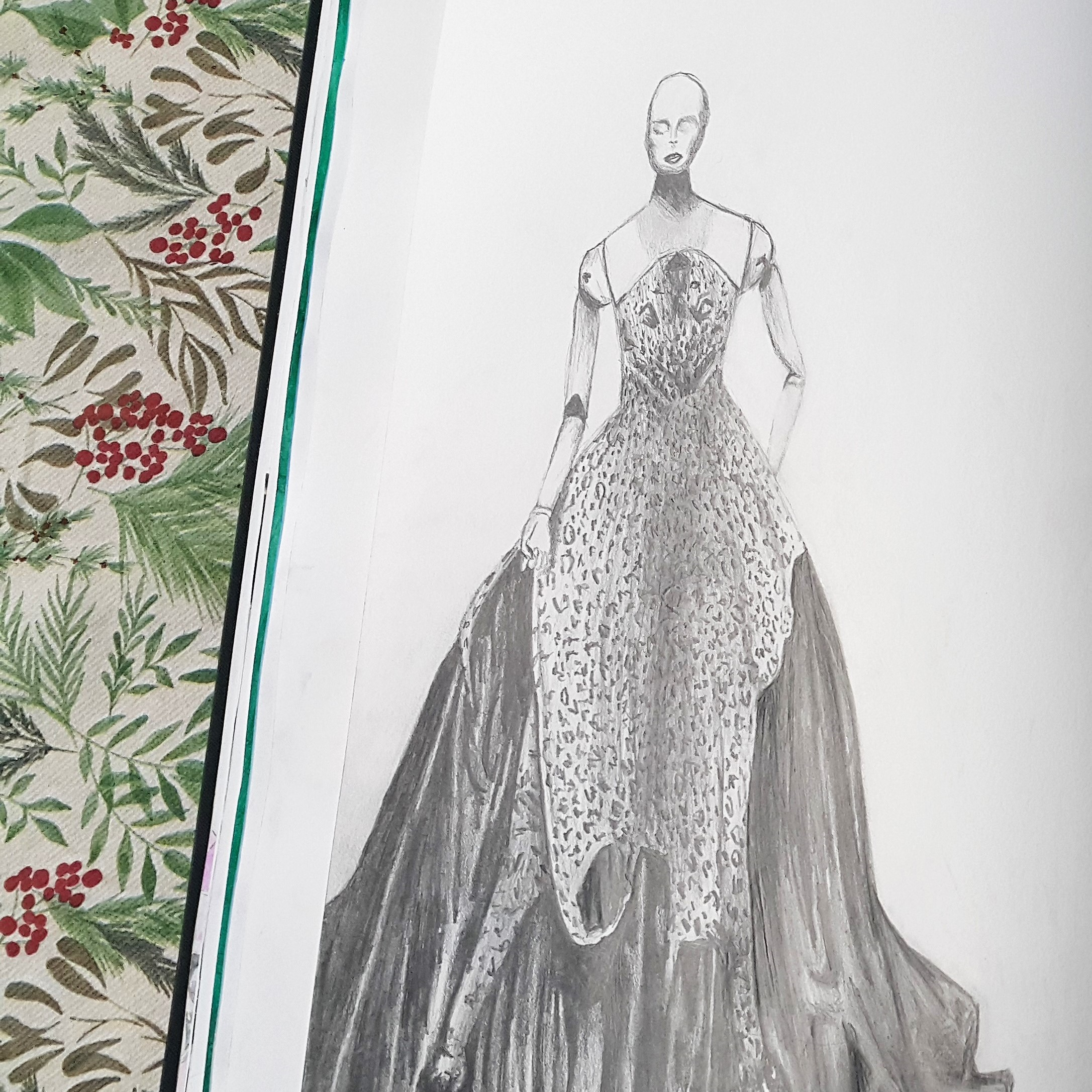 fashion-sketch-mcqueen-alexander-year10-private-lesson-tutor-irina-taneva